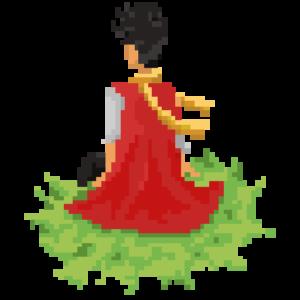 pixel art meditation